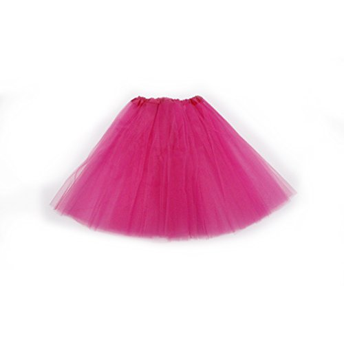 Dreamdanceworks Women's Classic Elastic, 3-layered Tulle Tutu Skirt