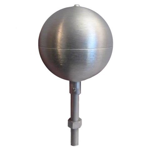 Flagpole Ornament - Flagpole ball top ornament 4 Inch Aluminum Satin Finish by Eder Flag