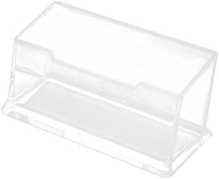 Transparente Duro Plástico Escritorio De Oficina Nombre Tarjeta Estuche: Amazon.es: Oficina y papelería