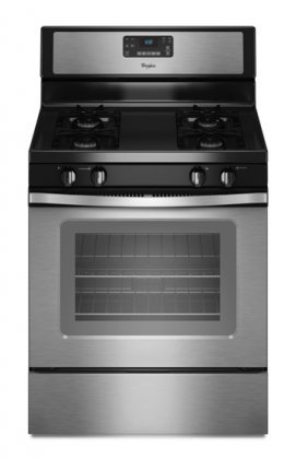 Whirlpool WFG510S0AS 30″ Stainless Steel Gas Sealed Burner Range image