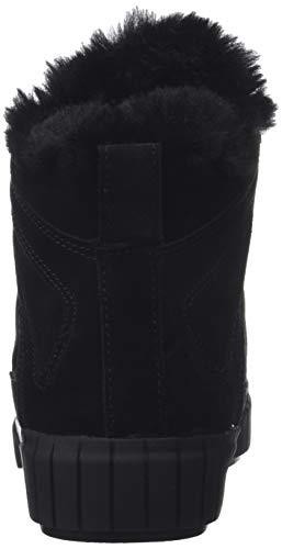 000 Suede black Klein Alto Collo Calvin Bolla Sneaker Donna A Nero AwRvPUqEx