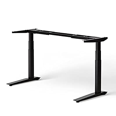 Jarvis Standing Desk Frame Only - Electric Adjustable Height Sit Stand Desk - 3-Stage Extended Range Frame with Memory Preset Handset Controller - Desk Top Not Included
