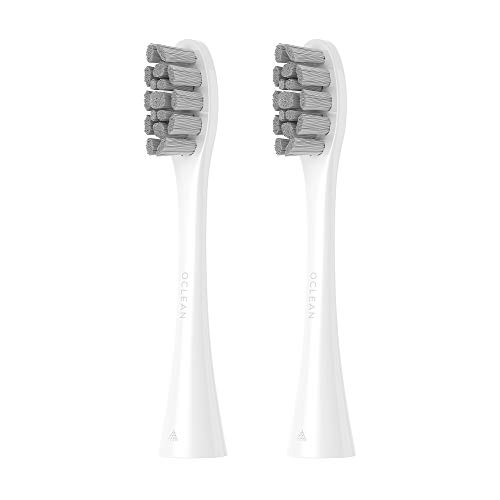 Oclean PW01 Replacement Brush Heads for White Oclean X / Z1 / One, Compatible with All Oclean Electric Sonic Toothbrushes, Standard Cleaning - 2 Packs