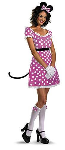 11049 Ladies Small Sassy Minnie Mouse Adult Dress and Accessories Pink ()