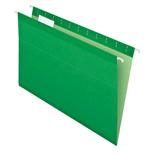 Pendaflex Reinforced Hanging Folders, Legal Size, Bright Green, 1/5 Cut, 25/BX (4153 1/5 BGR)