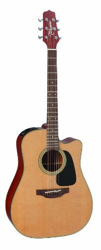 Takamine Pro Series 1 P1DC Dreadnought Body Acoustic Electric Guitar with Case, Natural