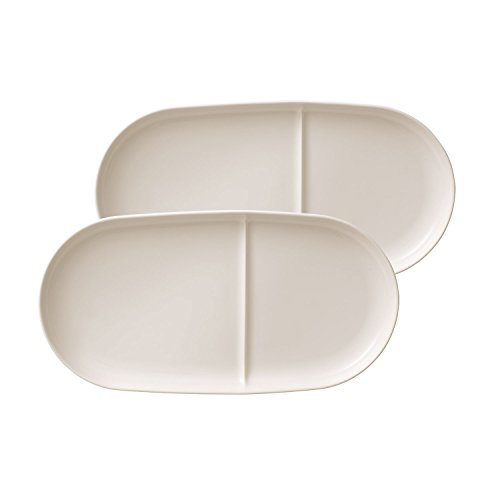 Soup Passion Soup/ Sandwich Tray Set of 2 by Villeroy & Boch - Premium Porcelain - Made in Germany - Dishwasher and Microwave Safe -  13 x.25 - & Safe Plates Microwave Boch Villeroy