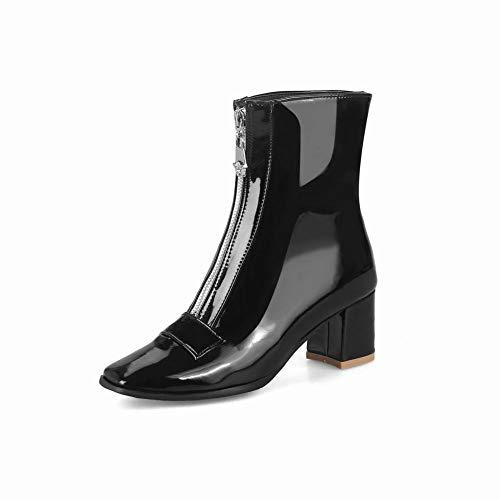 Con spessi stivali Inglesi Scarpe Nero Stivali Caldi Xe Donna Cerniera 34 Tacco Da 44 Alto 14HXfqxwax