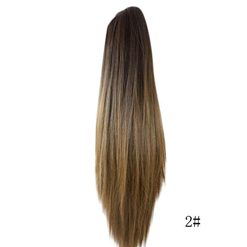 FORUU Wigs, 2019 Valentine's Day Surprise Best Gift For Girlfriend Lover Wife Party Under 5 Free delivery Women Fashion Claw Clip Long Straight Ponytail Hair Extensions Wig Hairpiece A ()