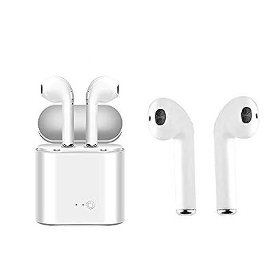 Bluetooth Headset,i7 Wireless Earbuds Charging Case Mini in-Ear Headphones Earphone Mic…
