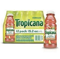 Tropicana Ruby Red Grapefruit -12/15.2 oz. Bottles by (Tropicana Ruby Red Grapefruit)