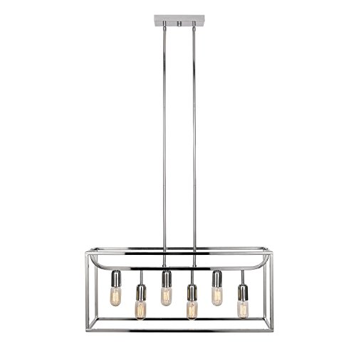 Globe Electric Lyon 6-Light Chandelier, Chrome