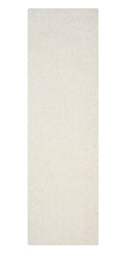 Safavieh Luxe Shag Collection SGX160A Handmade Ivory Polyester Area Rug (6