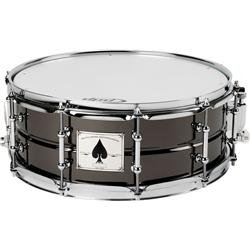 Pacific Snare - Pacific Drums by DW The Ace: 65X14 Black Chrome Over Beaded Brass Shell with Tube Lugs