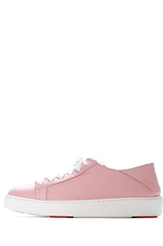Piel Rosa Santoni de Para Mujer Zapatillas Rosa qBEwH