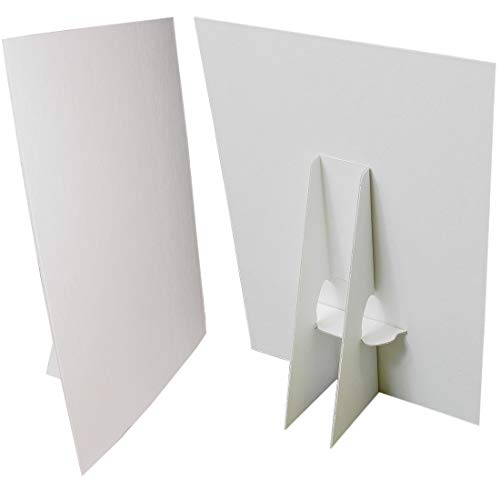 8 1/2 x 11 Cardboard Sign Holder, White (Pack of -