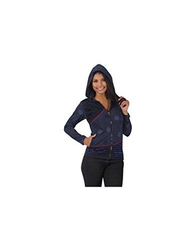Aller Simplement - Chaqueta en algodón manga larga 2 bolsillos con capucha de sudor van simplemente SW2202 Multicolor