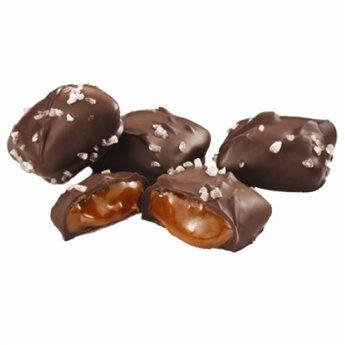Sanders Fine Chocolates-Milk Chocolate Sea Salt Caramels, 7 oz. (14 pcs)