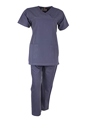 Uniform Craft Women's Polyester and Cotton Scrub Suit, Grey Price & Reviews