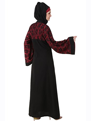 Abaya da 476 nero Shajarah Dubai MyBatua abito AT Nida maxi qfXpwwgx