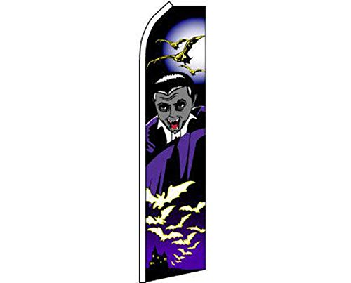 ALBATROS Halloween Vampire Black Purple Swooper Super Feather Advertising Flag for Home and Parades, Official Party, All Weather Indoors Outdoors ()
