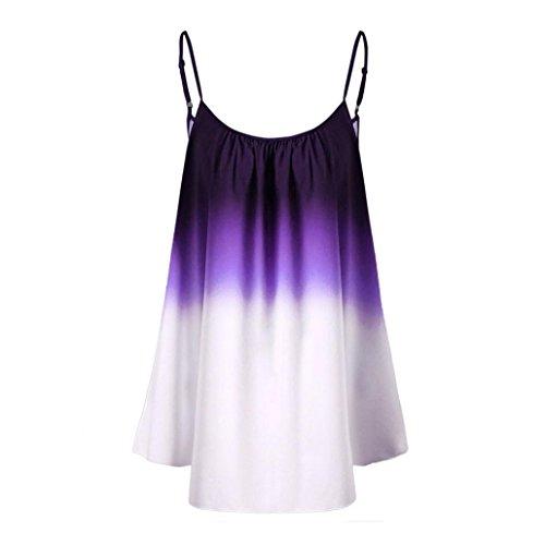AOJIAN T Shirt Blouse Women Sleeveveless Cami Trim Tank Tops Fashion 2018 Purple