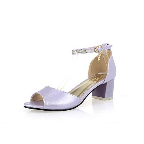 BalaMasa Girls Glass Diamond Fashion Soft Material Sandals Purple Bnbfq