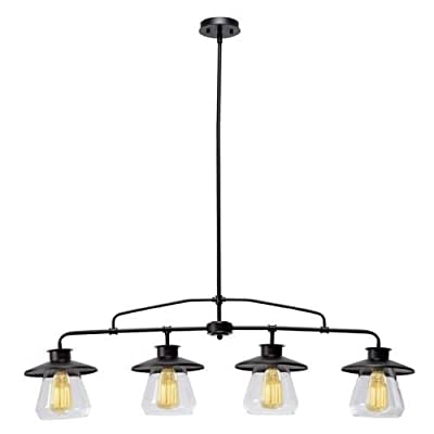 Globe Electric 1-Light Industrial Flush Mount Light Fixture