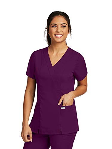- Grey's Anatomy Womens Scrubs, Wine, Small