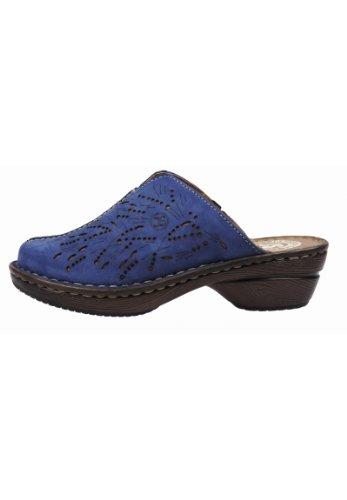Josef Seibel Jennifer 04 59905 10 741 - Zuecos de cuero para mujer, color rojo, talla 36 azul (azul oscuro)