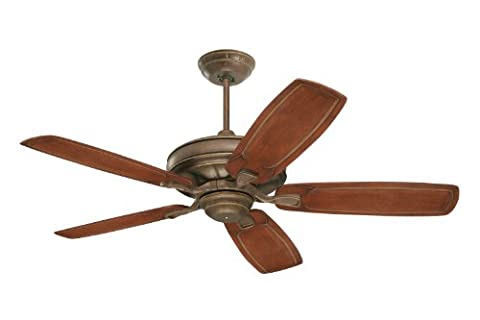 Emerson Ceiling Fans CF788GBZ Carrera Grande Eco Indoor Outdoor Ceiling Fan With 6-Speed Wall Control, Energy Star And Damp Rated, Blades Sold Separately, Light Kit Adaptable, Gilded Bronze - Emerson Indoor Fans