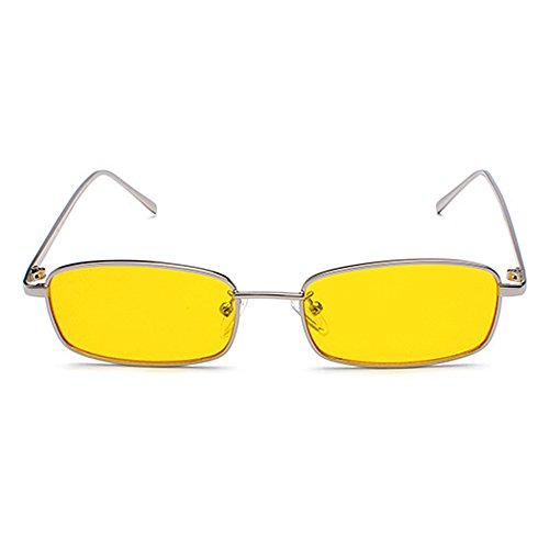 UV Metal Catwalk Sunglasses Small Yellow Goggles Style Vintage Glasses Fashion Anti Sun Men Unique Retro 8qYwnn7AU