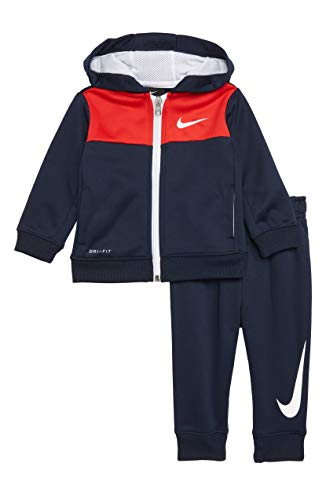 4db3e2a6 Nike Boy`s 2 Piece Therma-FIT Zip Hoodies & Pants Set (Obsidian ...
