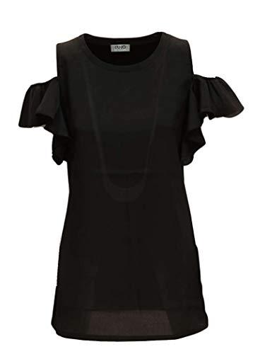 jo Liu Mod Bianco Donna Shirt W19258j0973 T Nero dHxqwrH6