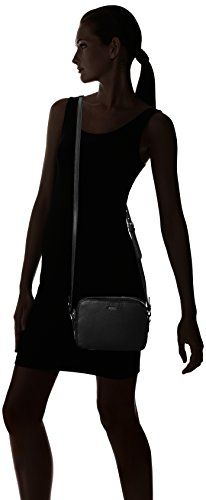 Joop! Nature Grain Cloe Shoulderbag Shz, Borsa a spalla Donna Nero (Nero)