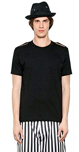 Comme des Garçons Shirt Plus Cut-Out-Shoulder Black Tee (Medium)