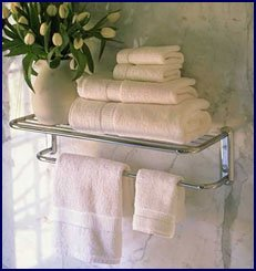 Great Polished Chrome Train Rack Or Hotel Style 18u0026quot; Towel Shelf With Drying  Bar
