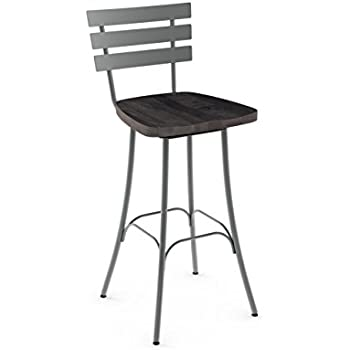 Amazon Com Amisco Stadium Swivel Metal Counter Stool In