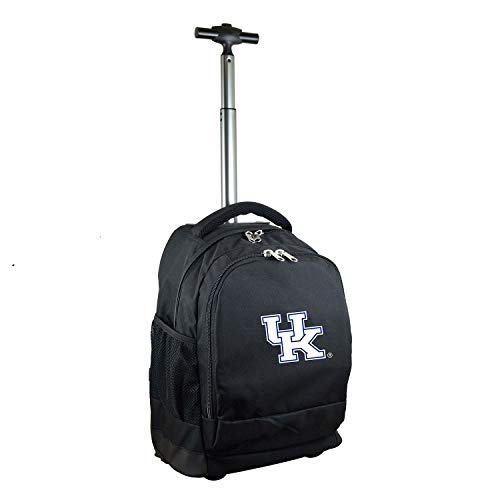 NCAA Kentucky Wildcats Expedition Wheeled Backpack, 19-inches, Black (Kentucky Wildcats Ncaa Laptop Bag)
