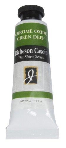 Jack Richeson Artist Casein Colors, 37-Millilitre, Chrome Oxide Green - Chrome Oxide Green