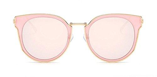 NioBe Fashion UV Sunglasses Mirrored Lens Oversized Metal Frame Cat Style J6667 (Gold - Niobe Sunglasses