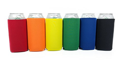 Beer Can Sleeves - 16 oz Set of 6 Coolers for Energy Drinks
