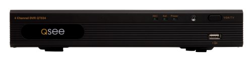 Q-See QT534-5 4-Channel Full D1 Smart Recording DVR with Pre-Installed 500GB Hard Drive (Black)
