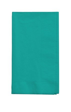 - 50 gorgeous Teal lagoon Dinner Napkins for Wedding, Party, Bridal or Baby Shower, Disposable Bulk Supply Quality!