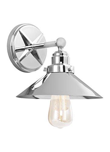 - Feiss VS23401CH Hooper Wall Sconce Lighting, Chrome, 1-Light (9