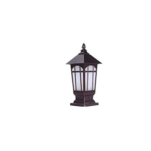 European Garden Décor Column Headlight Outdoor Wall Lamp Community Garden Waterproof Door Post Lamp Railing Park Street Pillar Lamp