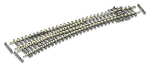 Peco N Scale Code 55 Electrofrog Double Curved Left-Hand ()