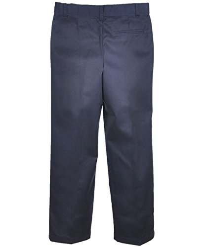 French Toast Big Boys' Flat Front Wrinkle No More Double Knee Pants - navy, 20 by French Toast (Image #4)
