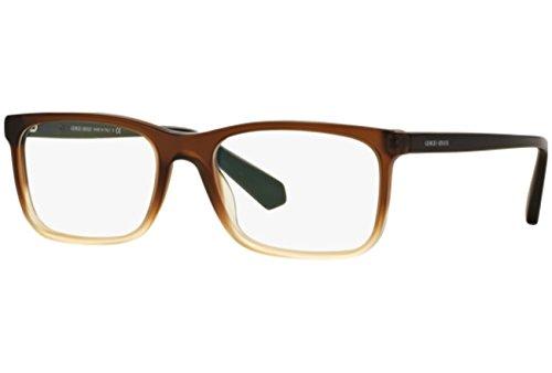 Giorgio Armani Montures de lunettes 7092 Pour Homme Black, 53mm 5444: Matte Brown Gradient