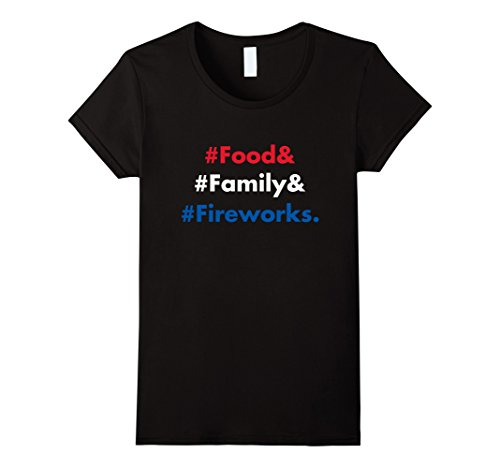 Womens Food Family Fireworks Independence Day 4th of July T Shirt Large Black